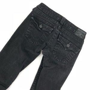 True Religion Black Skinny Jeans with Flap Pockets